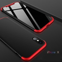 GKK Rugged Case for iPhone X 10 360 Degree Full Protection Case Hard PC 3 in 1 Fundas Coque Back Cover for iPhone X iPhoneX