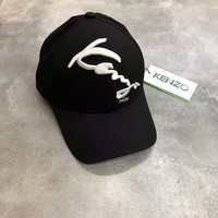 Kenzo Embroidered Logo Cap In Black