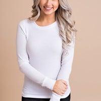 Basically Everything Thermal Top  (White)