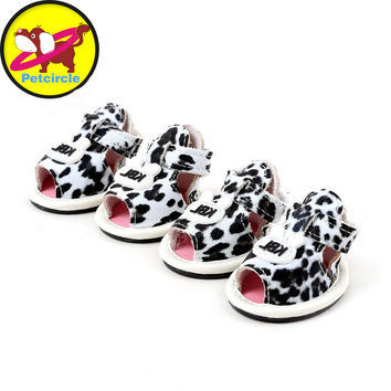 Dog shoes summer leopard dog shoes for chihuahua dog shoes pet products