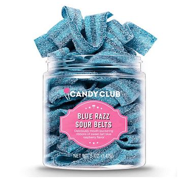 Candy Club-Blue Razz Sour Belts