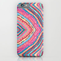 Bright Gypsy Bohemian Abstract Pattern iPhone & iPod Case by TigaTiga Artworks