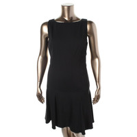 Lauren Ralph Lauren Womens Knee-Length Boatneck Wear to Work Dress