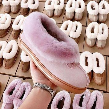 UGG simple solid color slippers shoes