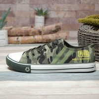 PUBG x CDG PLAY x Converse Chuck Taylor All Star Low Army Green - Best Deal Online