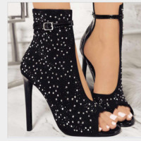 Hot style hot selling sexy thin with hot diamond high heel women's sandals