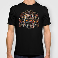 Silver Steel Skull Army painting Made in USA Short sleeves tee tshirt
