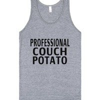 Professional Couch Potato-Unisex Athletic Grey Tank