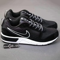 NIKE Fashion Men Running Sport Casual Shoes Sneakers Black-White Soles G-SSRS-CJZX