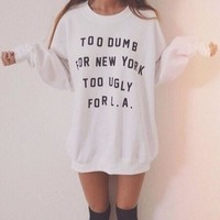 Letters printed Round neck Shirt Blouse Tops