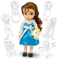 Disney Princess Animators' Collection Toddler Doll 16'' H - Belle with Plush Friend Chip