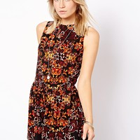 ASOS Playsuit in Winter Floral