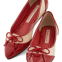 Bait Footwear Vintage Inspired Candy Apple Sweet Flat in Red