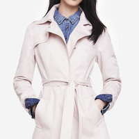 FIT AND FLARE TRENCH COAT from EXPRESS