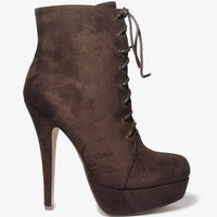 Lace Up Stiletto Boots