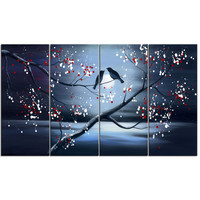 Two Love Birds Landscape Canvas Wall Art Oil Painting
