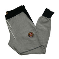 COLOR BLOCK JOGGER SWEATPANTS GREY / BLACK