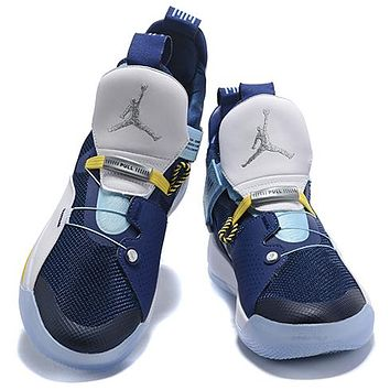 Air Jordan 33 New fashion sports leisure running couple shoes Blue