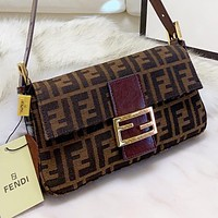 Wearwinds Fendi Fashion New More Letter Canvas Shopping Leisure Shoulder Bag Crossbody Bag Handbag