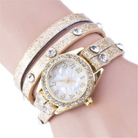 Girls Leather Strap Watches Womens Casual Sports Bracelet Watch Best Christmas Gift