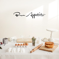 "Buon Appetito -  36"" x 7"" - Vinyl Wall Decal for Dining Room or Kitchen"