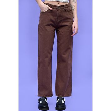 Sk8er Gurl Relaxed Jeans - Brown