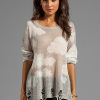 Wildfox Couture Cloudy Sky Lennon Sweater in Silver Polish from REVOLVEclothing.com