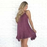 Lily Pond Purple Shift Dress