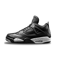 New Arrival Official Nike Air Jordan 4 Oreo AJ4 Breathable Women's Basketball Shoes Sports Sneakers
