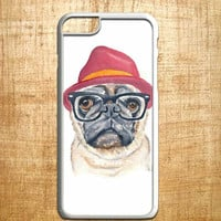 Cute Turquoise Pug.  for iphone 4/4s/5/5s/5c/6/6+, Samsung S3/S4/S5/S6, iPad 2/3/4/Air/Mini, iPod 4/5, Samsung Note 3/4, HTC One, Nexus Case*AP*