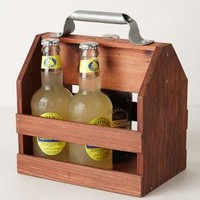 Wooden Beverage Caddy by Anthropologie Wood One Size House & Home
