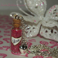 LOVE The Most Powerful Magic of All Necklace with a Heart Charm by Life is the Bubbles