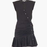Fountain Ruched Circle Skirt Dress by Veronica Beard