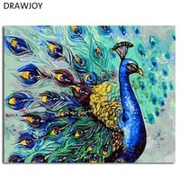DRAWJOY Framed DIY Painting By Numbers Digital Oil Painting On Canvas Home Decoration For Living Room Wall Art