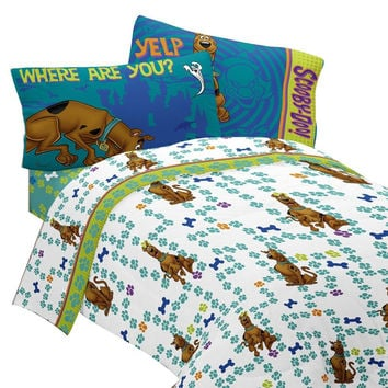 Scooby Doo Twin Bed Sheet Set Smiling Scooby Bedding
