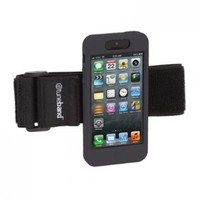 TuneBand for iPhone 5, Premium Sports Armband with Two Straps and Two Screen Protectors (Black)