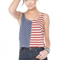 Brandy ♥ Melville |  Mirella Flag Tank - Tanks - Clothing