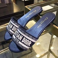 Dior Women Fashion Slipper Sandals Shoes