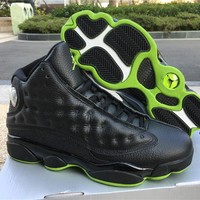 Air Jordan Retro 13 Black Altitude Green Men Basketball Shoes XII 13S Casual Classic Outdoor Sports Sneakers Size41-47 With Box