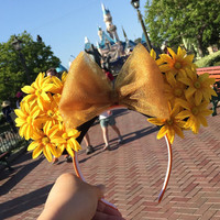 Sun flower Minnie Mouse Ears!