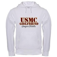 USMC Girlfriend-Semper Fideli Hooded Sweatshirt on CafePress.com
