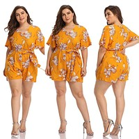 Short Sexy Floral Romper Outfit