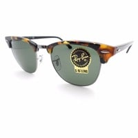 Ray Ban 3016 New Authentic Sunglasses 1157 Clubmaster Spotted Black Havana G15