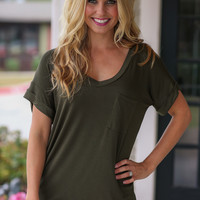 Not His Tee - Olive
