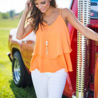 Just One Simple Layer Tank, Orange