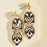 Modern Art Maven Earrings in Monochrome | Mod Retro Vintage Earrings | ModCloth.com