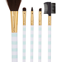 FOREVER 21 Candy Striped Cosmetic Brush Set