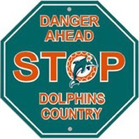 NFL Miami Dolphins Stop Sign