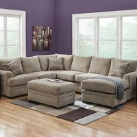 Platinum Gray 2 Pc. Sectional - Sectionals - Living Room - theroomplace - Categories