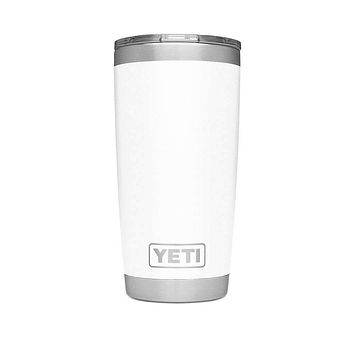 20 oz. DuraCoat Rambler Tumbler in White with Magslider™ Lid by YETI